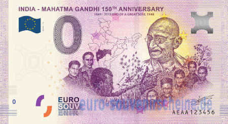 AEAA-2020-12 INDIA - MAHATMA GANDHI 150th ANNIVERSARY 1869-2019 END OF A GREAT SOUL 1948