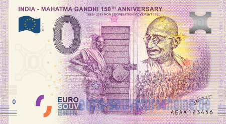 AEAA-2020-6 INDIA - MAHATMA GANDHI 150th ANNIVERSARY 1869-2019 NON COOPERATION MOVEMENT 1920